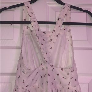 White with roses Short romper size s worn once